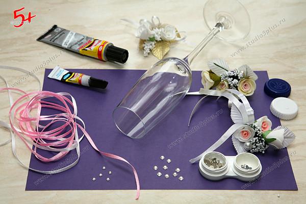 Как украсить бокалы своими руками пошаговое фото