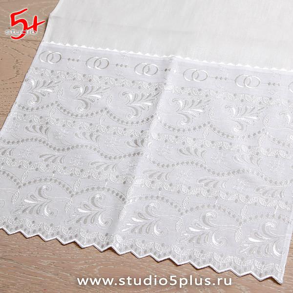 Венчальный рушник под ноги белый