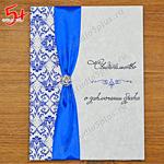 папка для свидетельства о браке синяя