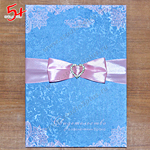модные цвета свадьбы в 2016 - голубой и розовый - пака для свидетельства о браке