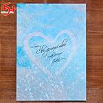 голубая папка для свидетельства о браке