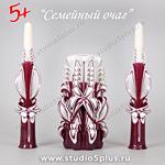 3 свечи на свадьбу Марсала