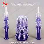 Фиолетовые свечи на свадьбу