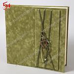 Зелёный свадебный фотоальбом