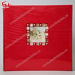 Красный свадебный альбом с перламутром