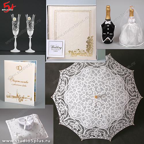 Свадьба в белом цвете - коллекция аксессуаров для молодоженов