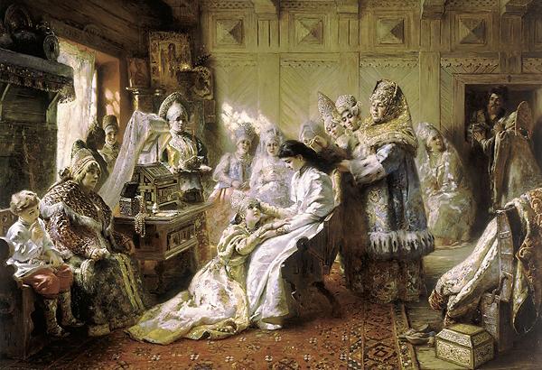 Подготовка невесты на Руси