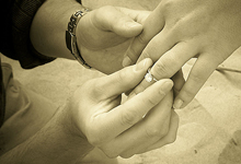 помолвка - одевание кольца
