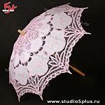Свадебный зонт розовый
