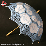 свадебный зонт голубой