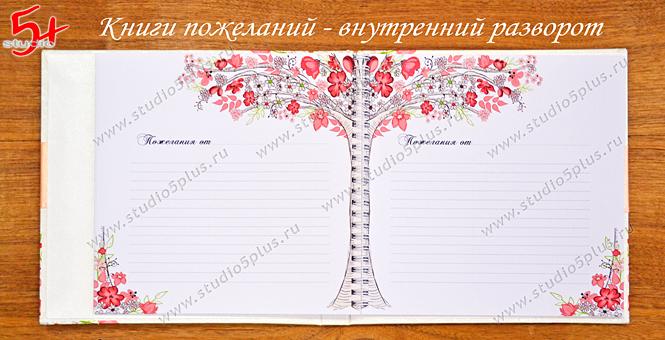 Книга пожеланий внутри - систы с цветочками