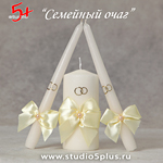 3 свечи Айвори для ритуала Семейный очаг