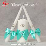 З свечки - украшены в стиле Тиффани на свадьбу