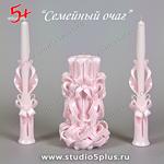 розовые свечи
