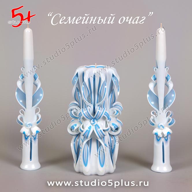 свеча на свадьбу голубая - морской цвет