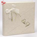 Дизайнерский свадебный альбом с бантом и стилизованными сердечками