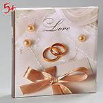Свадебный альбом с кольцами для новобрачных