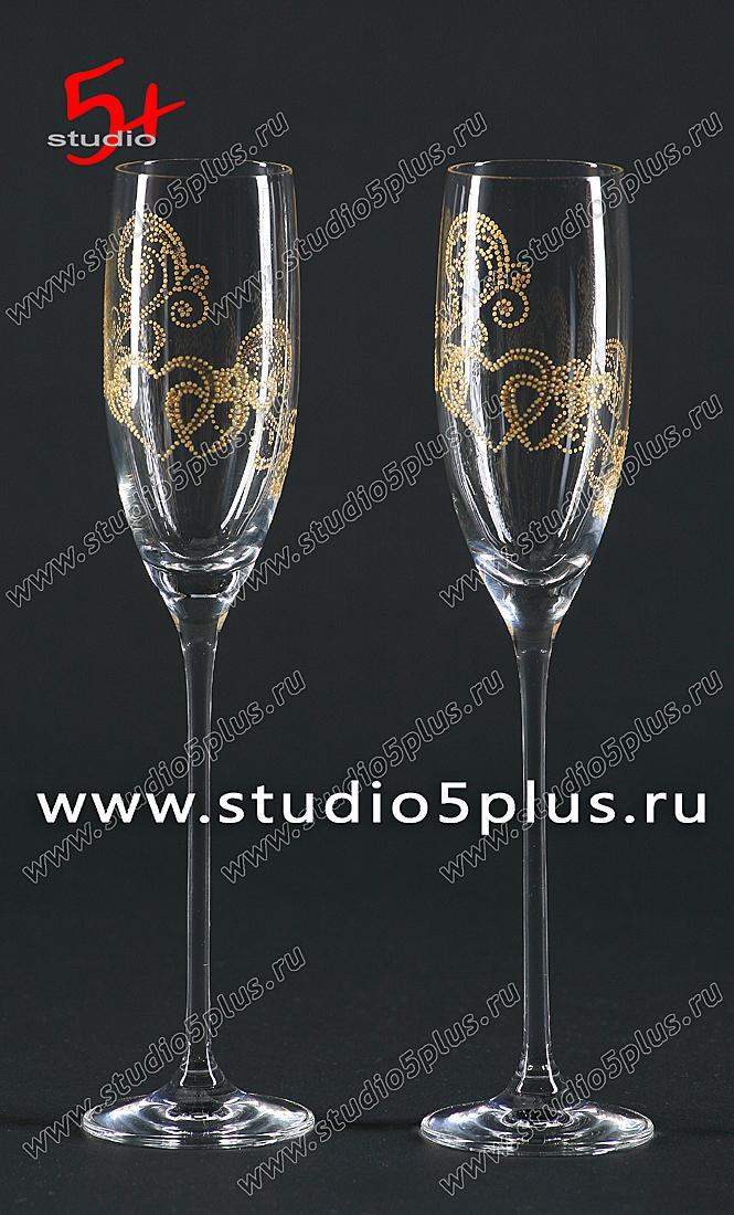 Свадебные бокалы фото, Студия 5+, Санкт-Петербург