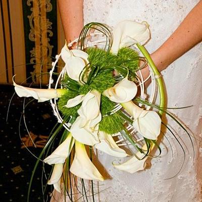 Каркасный свадебный букет